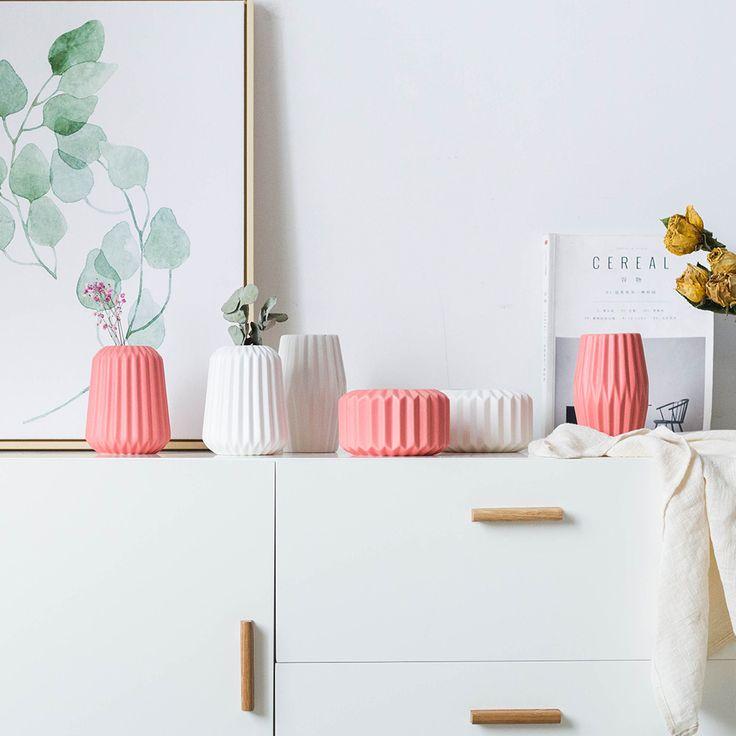 Aliexpress.com: Compre Sala de estar Criativo Decorações Casa Ornamentos Vaso de Cerâmica Vasos de Flores Arranjo de Flores Vaso de Água de confiança ceramic vase fornecedores em EVEROCA Store