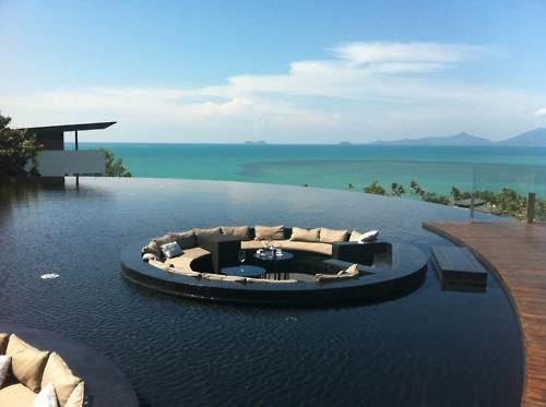 Infinity pool and sitting area plan for next house.