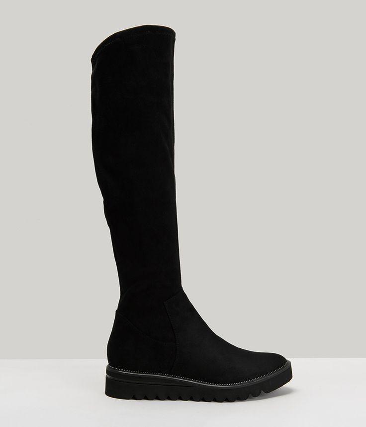 Tamaris Flat Μαύρες Μπότες με Metallic Σχέδιο 25601-29 - buldoza.gr