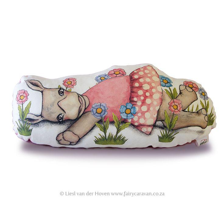 Rita Rhino pillow friend