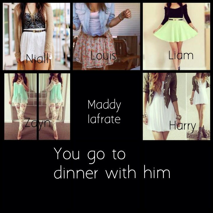 I want the white dress... You know 'cause I have to go to dinner with harry