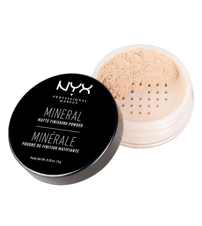 Nyx Professional Makeup -Polvos sueltos acabado Mineral Matificante Finishing Powder - MFP01: Light/Medium
