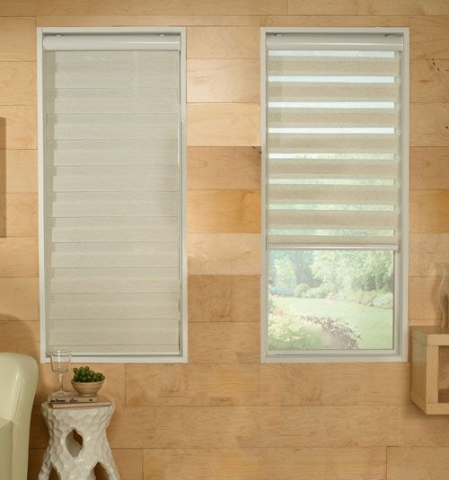 Alternate between appreciating your view and enjoying your privacy with sheer shades. These unique window treatments are not only elegant, but also extremely functional.