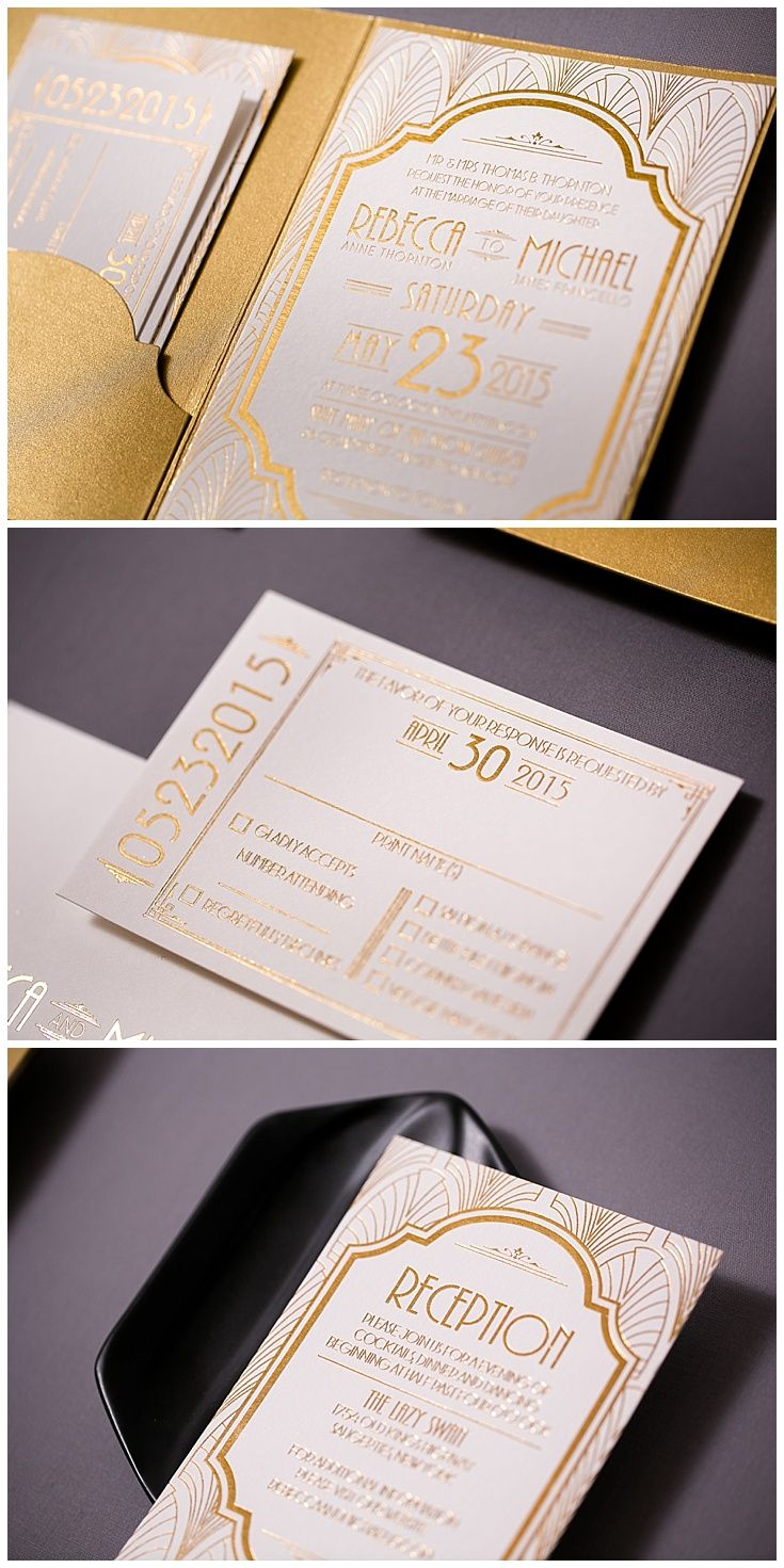 Art Deco Wedding Invitations 64 best RESPONSE