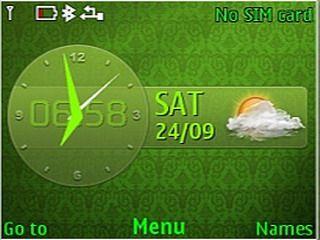 Neon Art Green theme for Nokia C3 & X2-01 320x240, asha 200, Asha 201, Asha 205, Asha 302, Asha 303, C3, C3 & X2-01 Theme, colors clock theme, download free, HTC 7 Mozart, mobiiles theme, nokia theme, X2-01