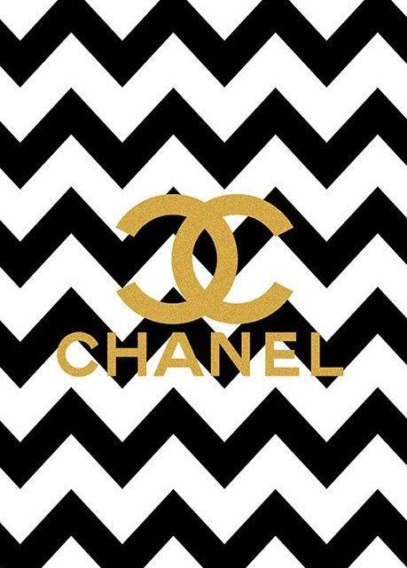 louis vuitton logo gold. limited edition gold chanel logo black chevron print on etsy louis vuitton