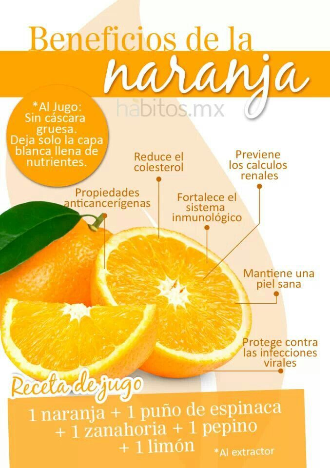 Propiedades de la naranja #hábitosmx #salud #health #hábitos