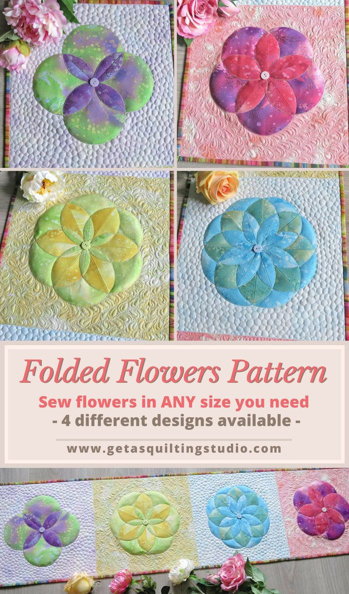 1633 best sewing and quilting patterns and tutorials images on learn to sew fabric folded flowers with 4568 petals jeuxipadfo Choice Image