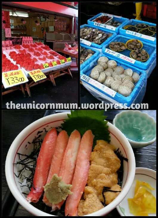 #Japan #food #uni #sea #urchin #seafood #delicious #fish #market #fresh #Hakodate #Hokkaido
