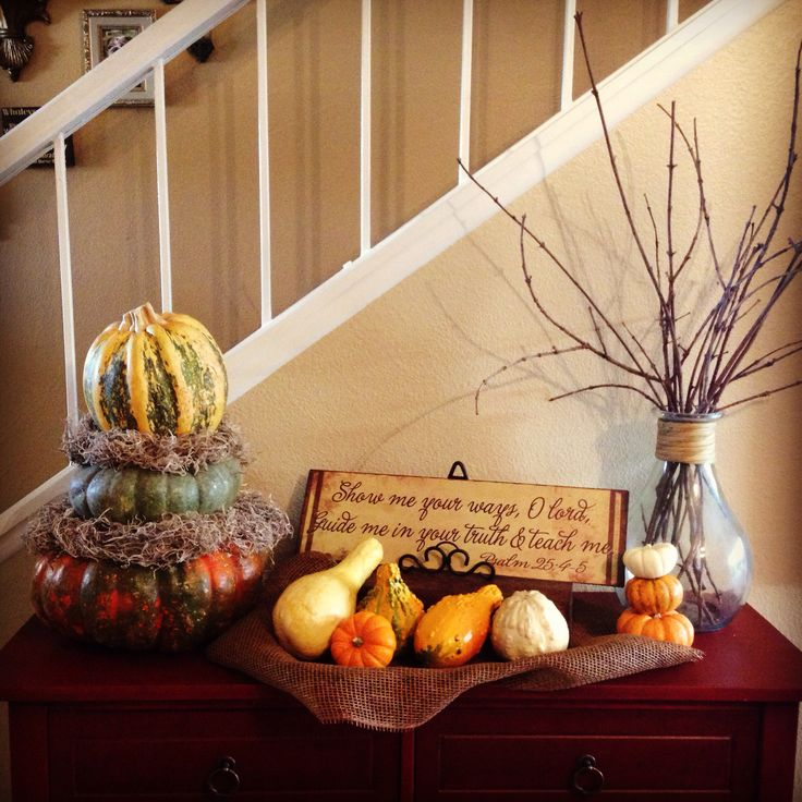 Fall decor pumpkins harvest decor thanksgiving my for Thanksgiving home decorations pinterest