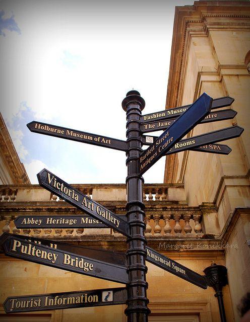 Direction post, Bath, Somerset