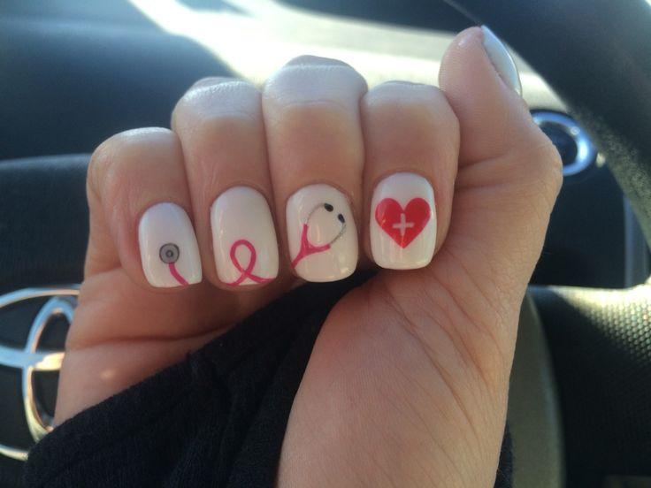 Medical stethoscope nails done by Bri Thurlo, Femme Sala Joplin MO