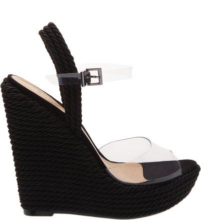 b57c63c4a Sandália Anabela Natural Vinil Black | Sandálias finas | Shoes ...