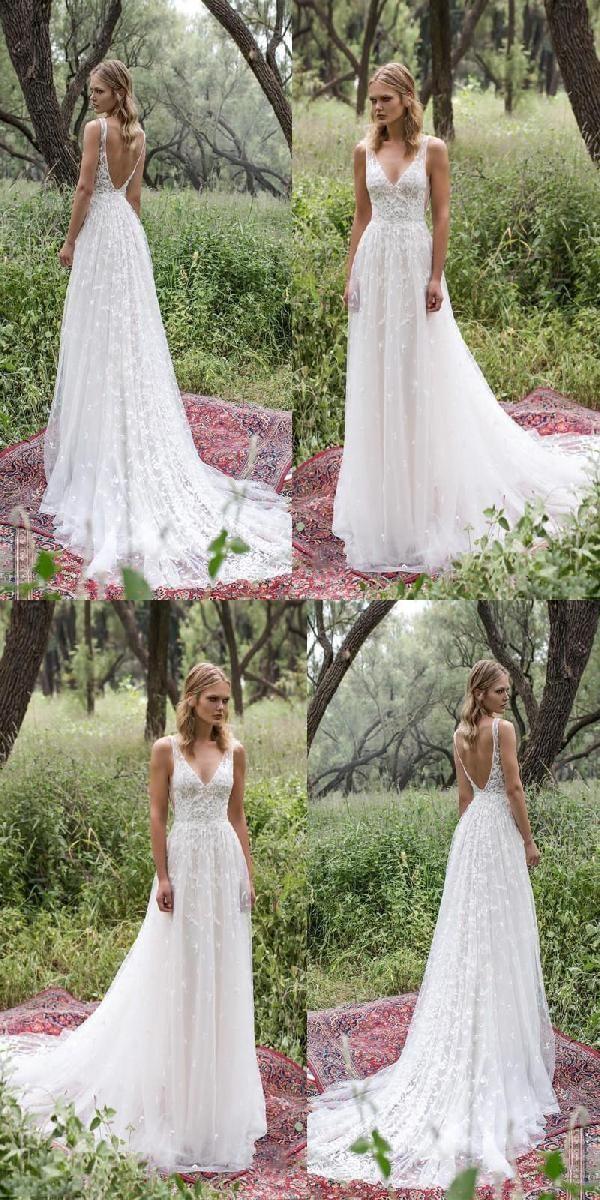 V Neck Wedding Dress, Wedding Dress, Wedding Dress Simple, Lace Wedding Dress, Sexy Wedding Dress