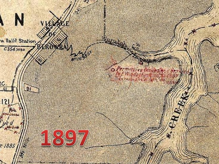 1897 Lands dept map showing Windybanks location and the walking track from Berowra  station