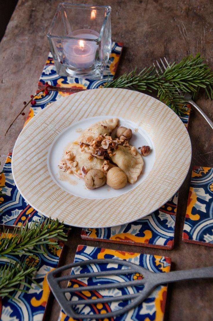 Ravioli mit Maroni-Apfel-Füllung zu Weihnochtn | Das Mundwerk