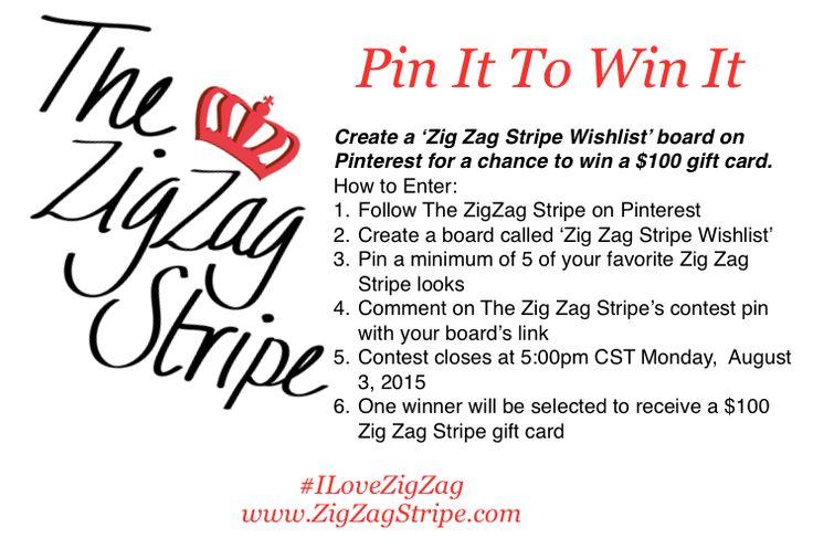 Pin It To Win It - Zig Zag Stripe Wishlist