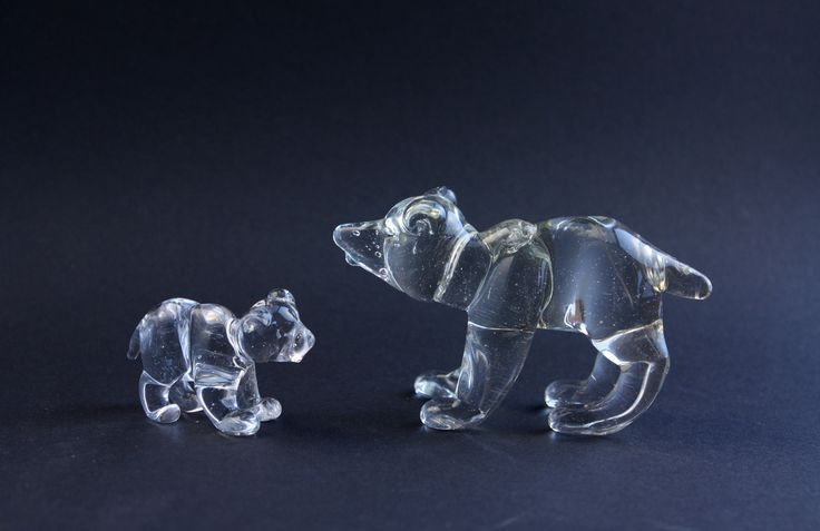 Glass bears, lampwork-------------- GlassFlemming / Jan Lange