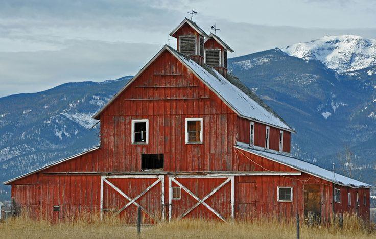 Bitterroot Valley Barn, Bitterroot Valley of Montana