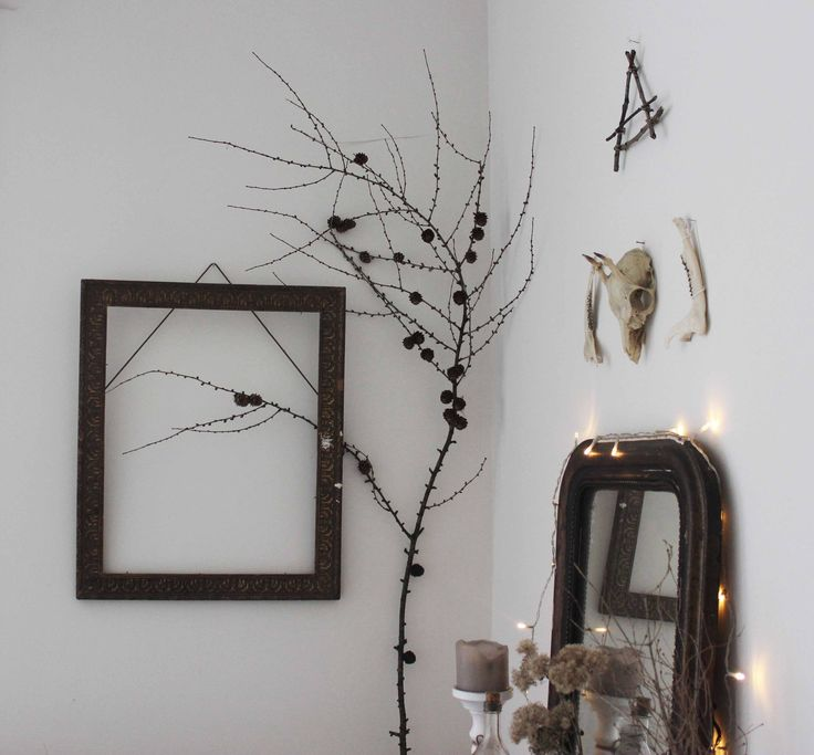 in our living room, a witchy corner...