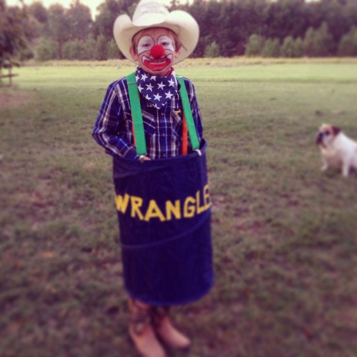 My Rodeo Clown Diy Kid Costumes In 2019 Clown Halloween