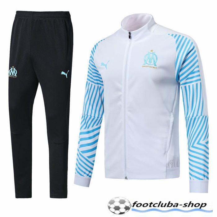 Survetement de Foot Veste Marseille OM BlancBleu 2018