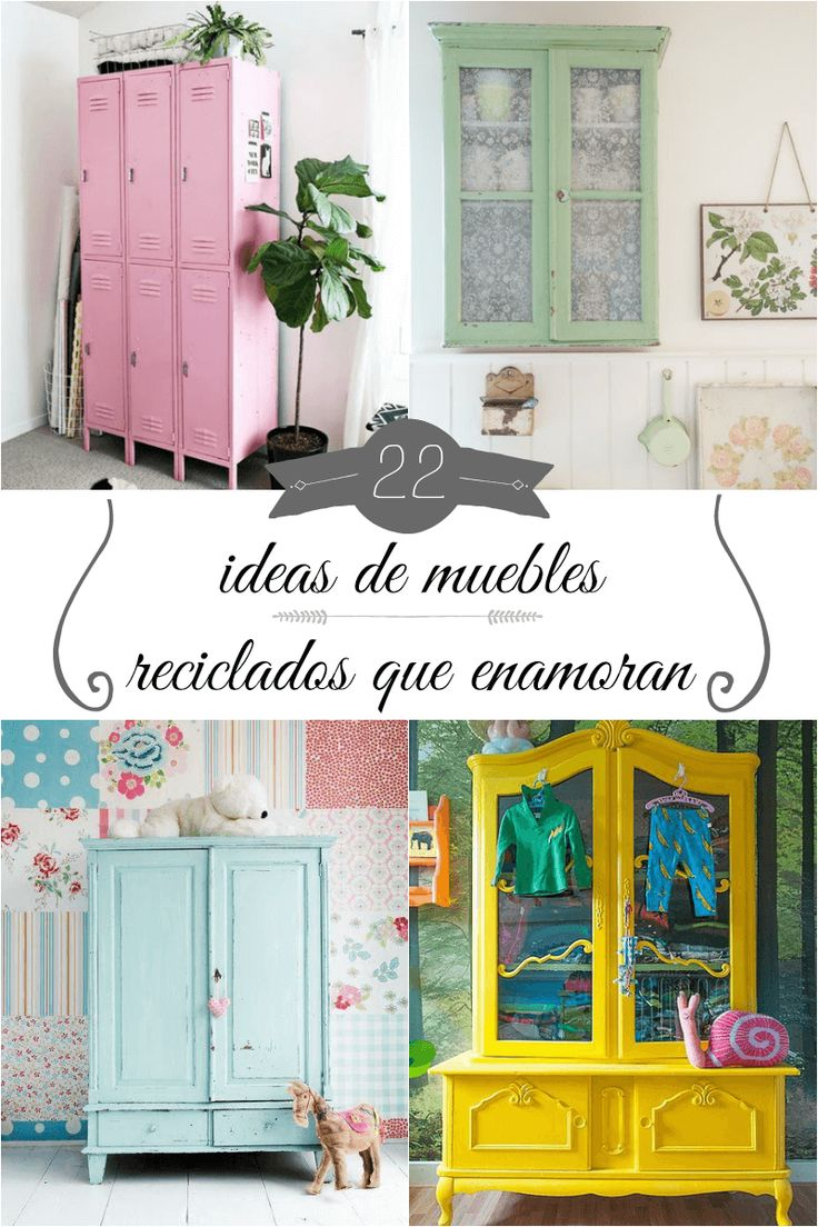 1277 best manualidades images on pinterest for Muebles reciclados