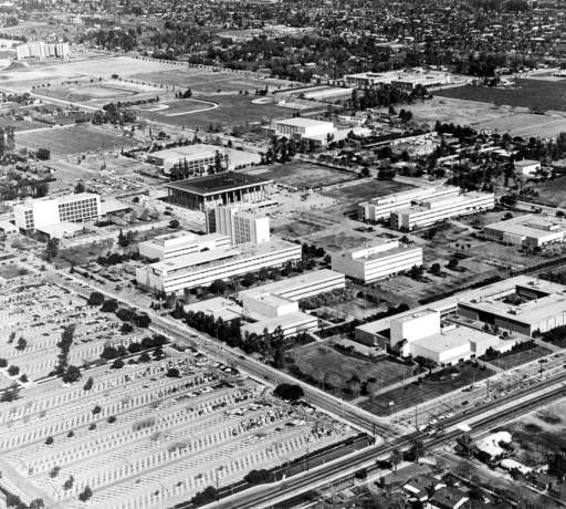 California State University, Northridge Campus, Aerial View Looking Northeast, ca. 1973 :: San Fernando Valley History