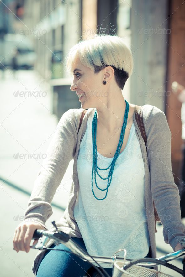 beautiful young blonde short hair hipster woman with bike Short Hair, airy, attractive, authentic, beautiful, beauty, bicycle, bike, blonde, candid, casual, caucasian, city, contemporary, cool, cycling, cyclist, diverse, diversity, easy, fashionable, female, hairstyle, hipster, lifestyle, modern, natural, outdoor, real, riding, street, style, stylish, summer, trendy, unusual, urban, woman, young, beautiful young blonde short hair hipster woman with bike