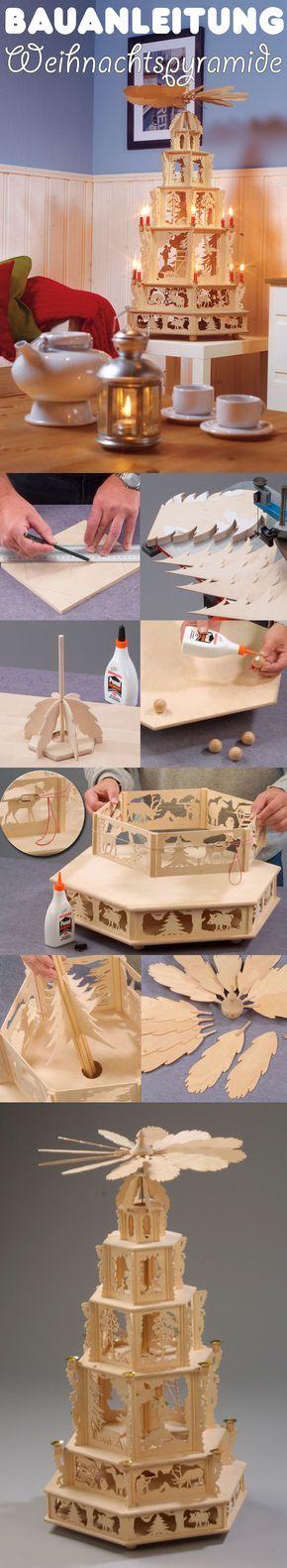 Eine Weihnachtspyramide schafft eine gemütliche und festliche Stimmung. Wir zeigen, wie man die Pyramide für die Weihnachtszeit aus Holz selbst baut.
