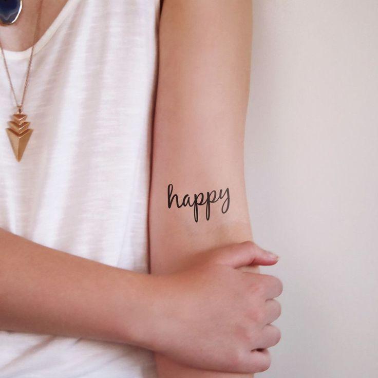 'happy' temporary tattoo (2 pieces)
