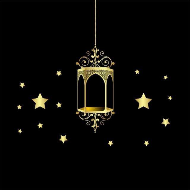عيد مبارك فانوس ذهبي وخلفية سوداء فانوس الثريا ضوء Png والمتجهات للتحميل مجانا Black Backgrounds Lanterns Eid Mubarak