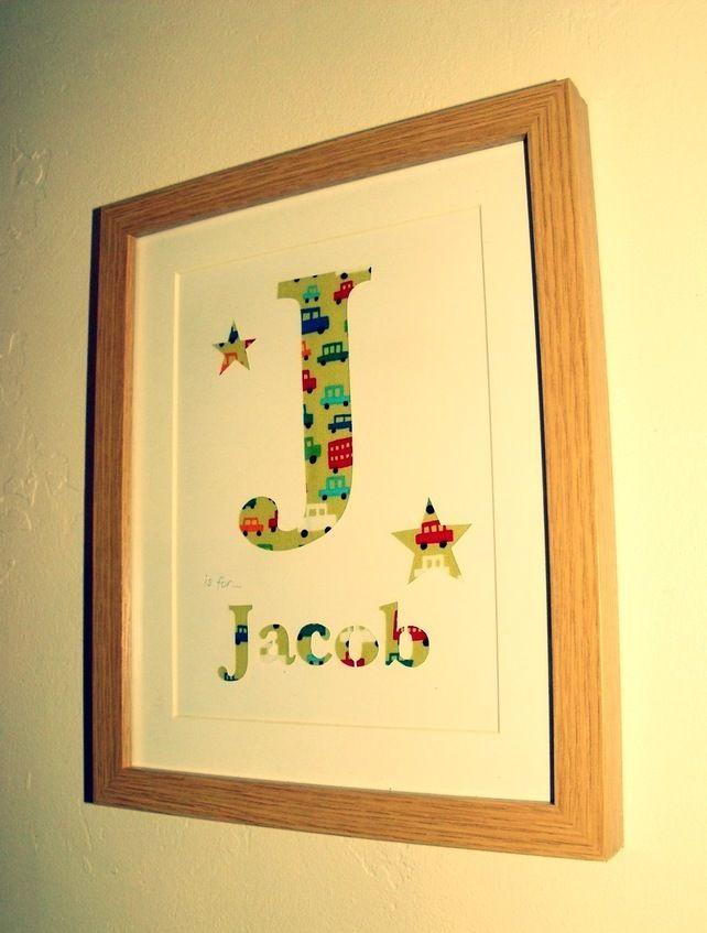 Baby boys Initial letter Papercut Keepsake £12.00