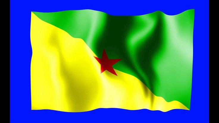 French Guiana Waving Flag Green Screen Animation - Free Royalty Footage