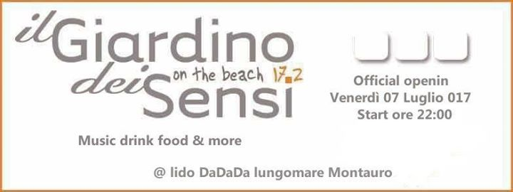 Dalle 14:00 opening bar gelateria by Dolci momenti (cz) dalle 19:00 opening  ristorante pizzeria by il Casello (cz) dalle 22:00 opening cocktail bar by il Giardino dei sensi