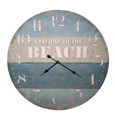 Coastal Decor Clock - Welcome to the Beach from Earth Homewares