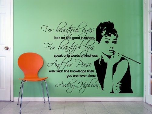 Best Audrey Hepburn Pictures And Images With Quotes Images On - Wall stickershuhushopxaudrey hepburn beautiful eyes removable