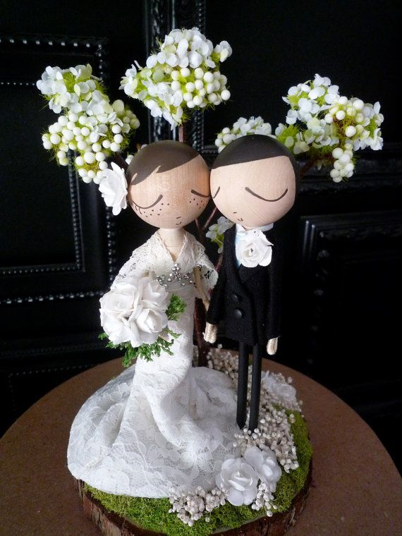 Multicultural Wedding Cake Toppers