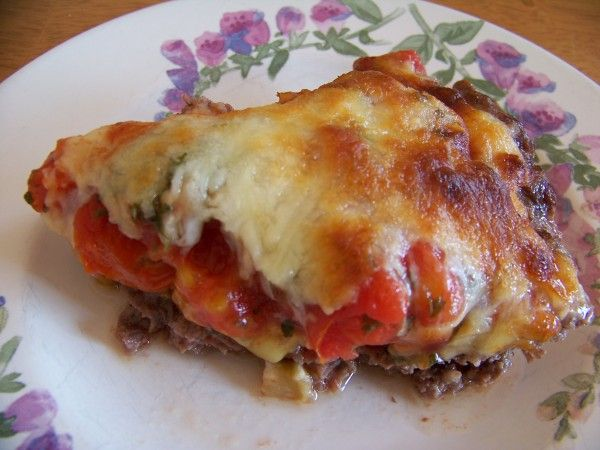 Hamburger Pie with Eggplant - Low carb recipes suitable for all low carb diets - Sugar-Free Low Carb Recipes