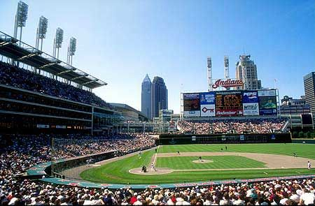 The Cleveland Indians and Jacobs Field now Progressive Field