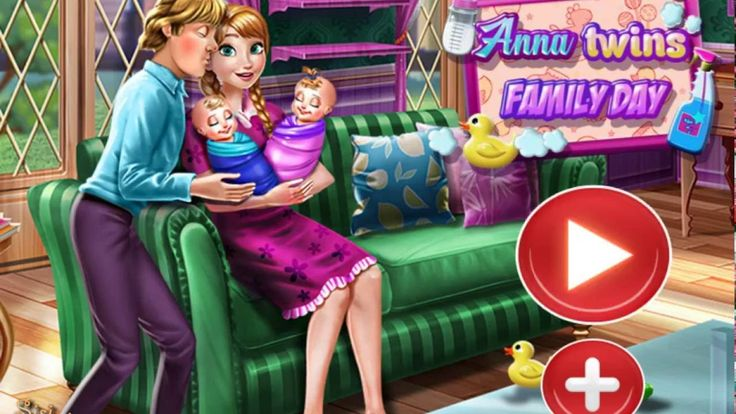 Gameplay des Spiels Die Eiskönigin Anna Twins Family Day Youtube