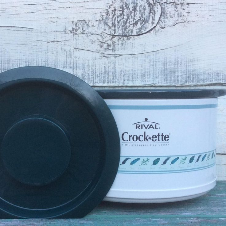 1QT Vintage Rival Crock-ette Spices SCR 100 | Small Crock Pot Crockpot | 4 Cups Electric Slow Cooker | Stoneware Basil Rosemary Sage Oregano by ShowMeShabby on Etsy