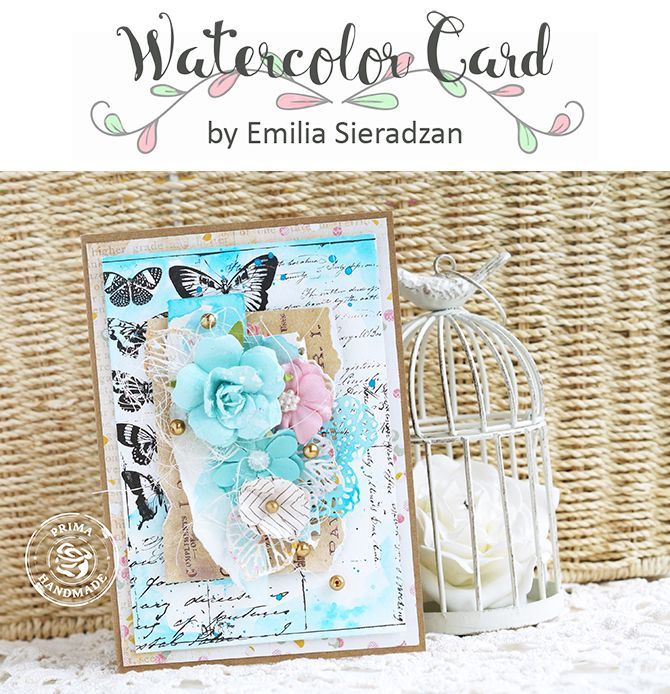"""""""I love working with Prima Watercolor Confections. This time I only used one…"""