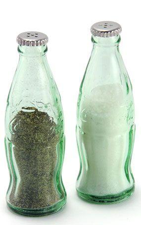 Vintage Inspired Mini Coca Cola Salt and Pepper Shaker Set, Kitchen Gadgets