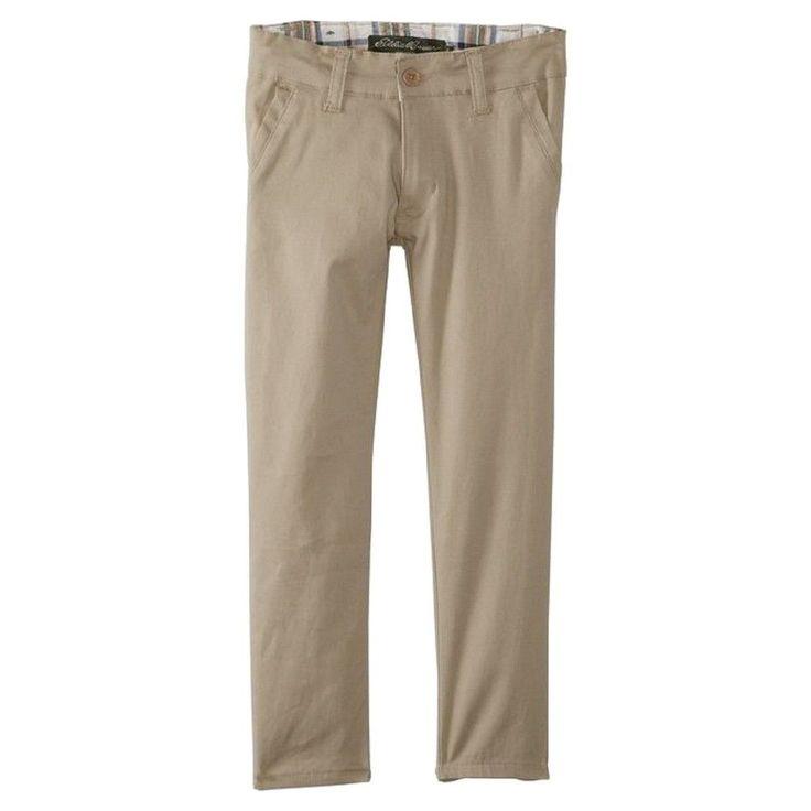 Eddie Bauer Girls' Stretch Skinny Pant Khaki (Green) 6X, Girl's