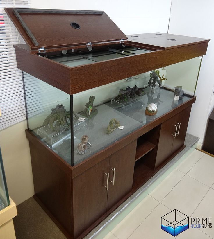 Tropical Aquarium 72x24x24 Cabinet With Shelf in Altea Wenge