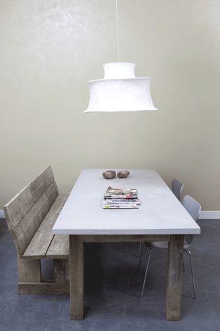 Betonlookdesign - Betonlook eettafels, woonkamers, slaapkamers - Beton ciré, Tadelakt, Pandomo