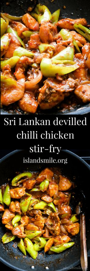Sri lankan devilled chilli chicken stir-fry #food #recipe #cooking #chicken #eats #spicy #yummy #glutenfree #low-carb #easy