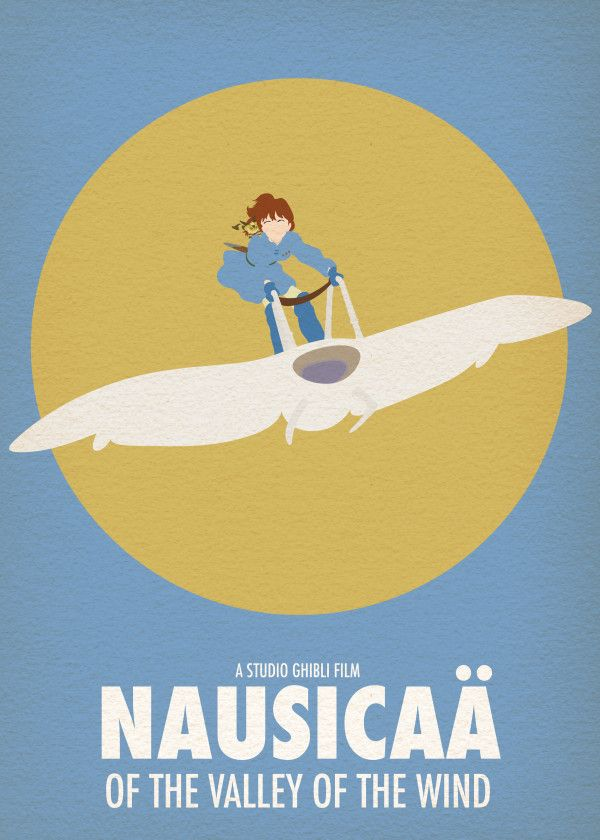 Minimalist Studio Ghibli Movie Poster Minimal Posteritty NAUSICAA Valley Wind