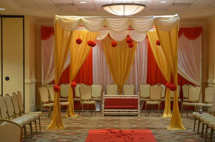 Hindu Wedding Mandap Indian Wedding & Event Backdrop Rentals Maryland. Backdrop Draping Rentals For Lady Sangeet, Henna , Ceremony, Reception, Engagement Party, Bridal Shower, Baby Shower, Birthday #backdrop #wedding #decor #decorator #Maryland #rental #lady sangeet #Indian #Pakistani #event #draping #arch #ceremony #mandap